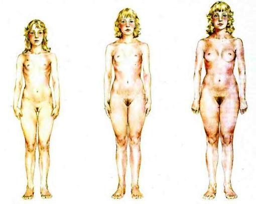 у девушки разные груди