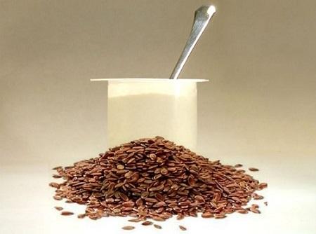 Семена льна с йогуртом