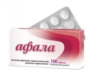 При простатите используется гомеопатическое средство Афала