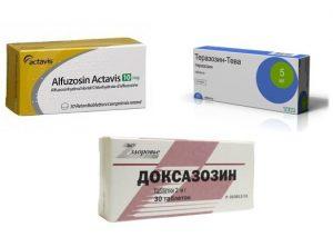 При аденоме простаты назначаются альфа-адреноблоктаоры