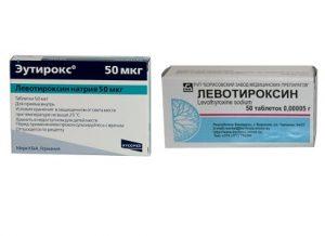 Препараты при недостатке гормонов щитовидки