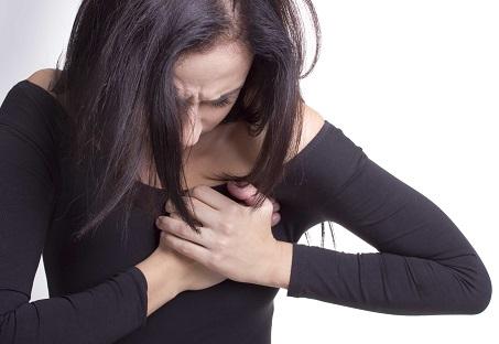 Острая боль слева в груди