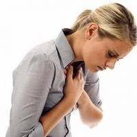 Боль в груди женщины