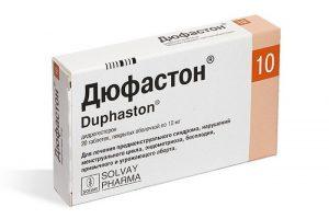 Для стабилизации гормонального фона при беременности может назначаться Дюфастон