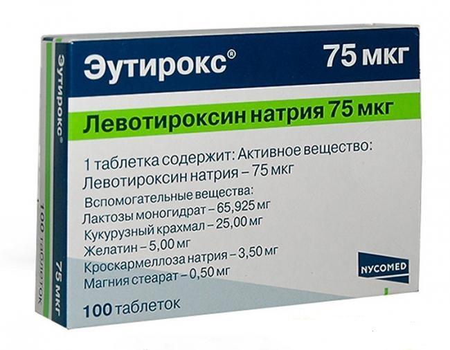 Лечение гипотиреоза проводится препаратом Эутирокс