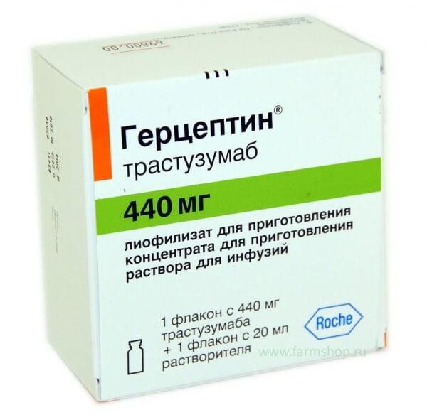 Для лечения назначается таргетный препарат Герцептин