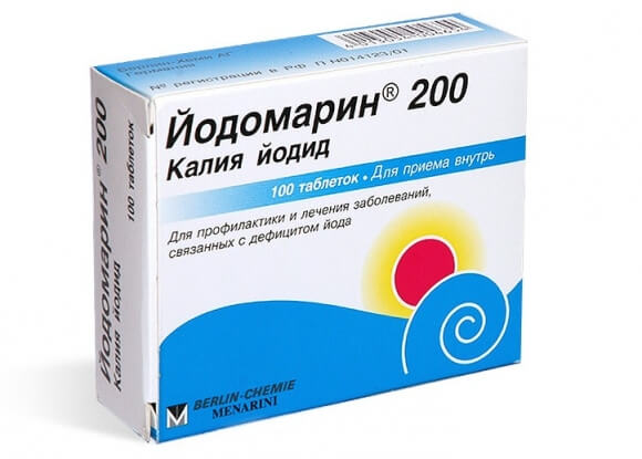 Для лечения заболеваний щитовидки назначают курс препаратов йода