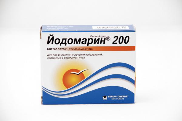 В лечении используют препараты с высоким содержанием йода