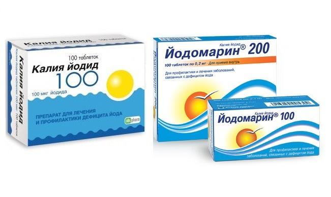 При гипотиреозе рекомендуется употреблять препараты йода