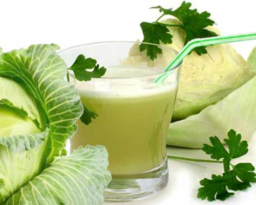В лечении можно использовать капустный сок