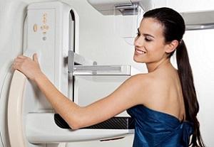 Выявление уплотнений маммографией