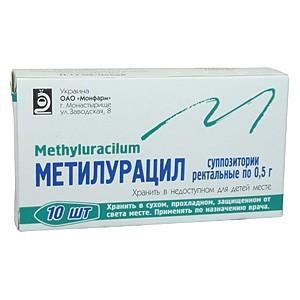 Устранить воспалительный процесс при простатите помогут метилурациловые свечи