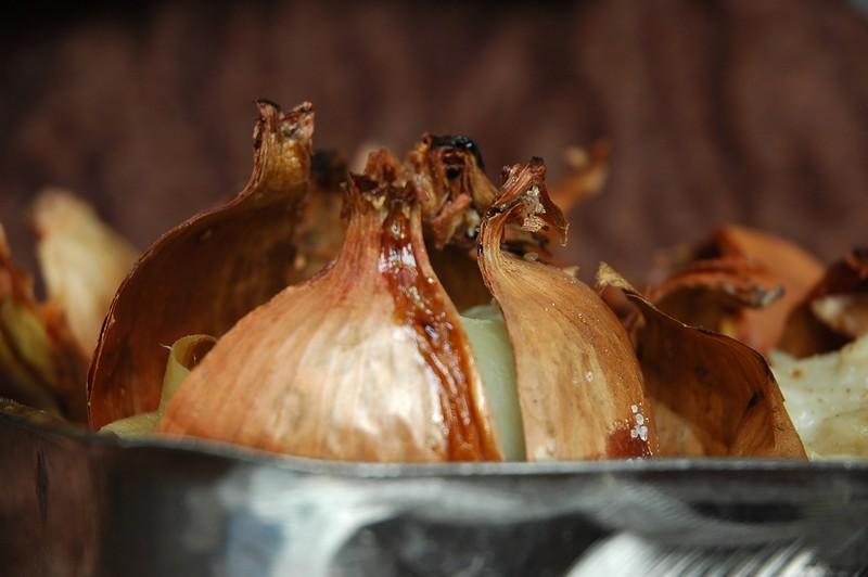 Кашица из печеного лука помогает лечить уплотнения