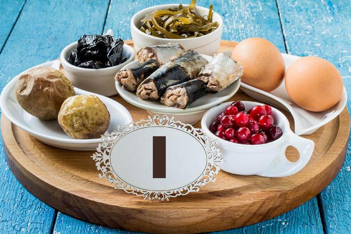 Продукты питания должны содержать значительное количество йода