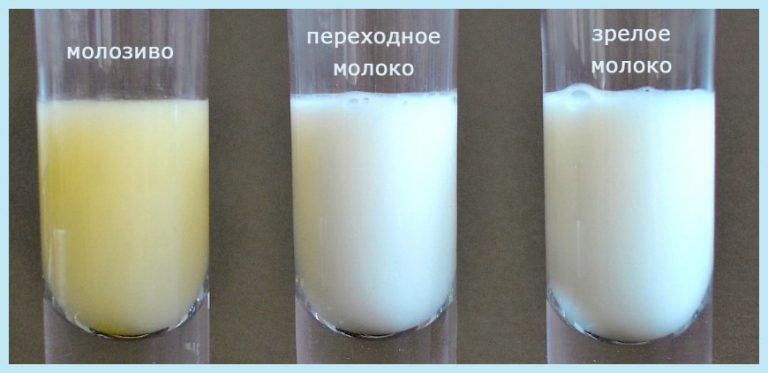 грудное молоко желтого цвета и соленое