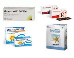 Для лечения зоба назначаются препараты йода