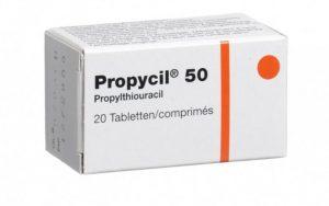 Для лечения диффузного токсического зоба назначается Пропицил