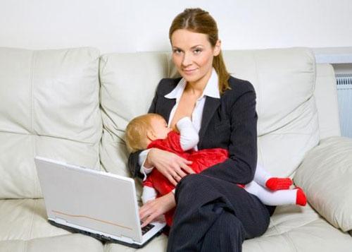 Женщина может завершить лактацию перед выходом на работу