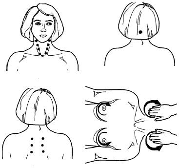 Точки для массажа шиацу
