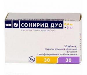Сонирид Дуо - комбинированный препарат, который используется для лечения аденомы простаты