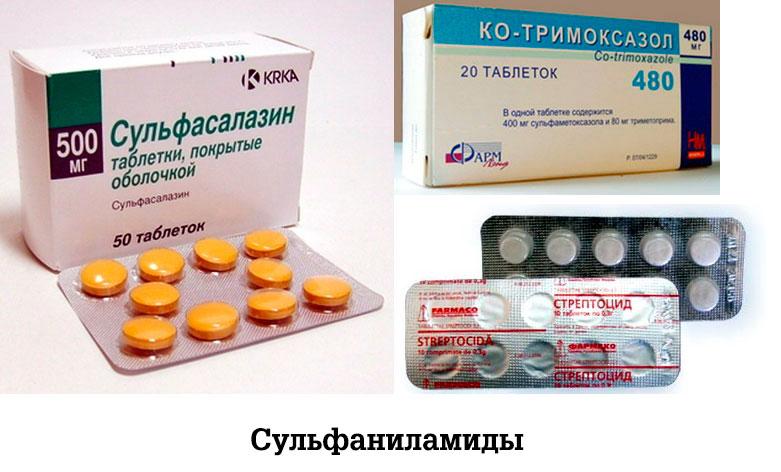 Сульфаниламиды запрещено принимать при лактации