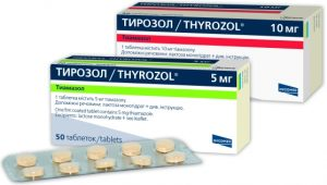 В лечении зоба используется Тирозол