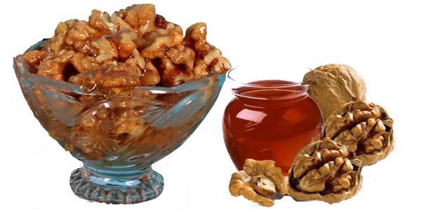 Ядра грецкого ореха с медом помогают улучшить состояние щитовидки