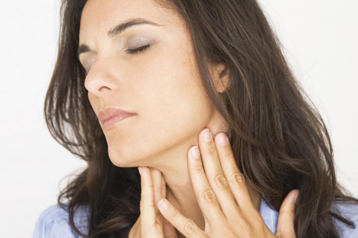 При фолликулярных кистах появляется боль при глотании